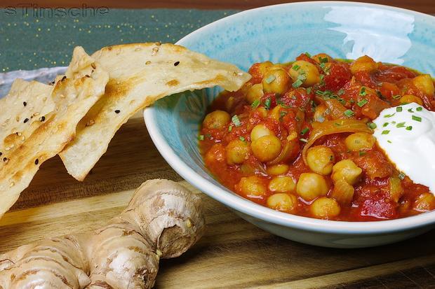 Chana masala - Arbeiter-Curry - Mit Fladenbrot - Rezept - Bild Nr. 2