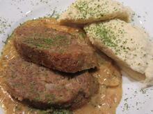Fleisch: Minihackbraten in sahniger Zwiebel-Senf-Soße - Rezept - Bild Nr. 4734