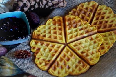 Rezept: Frühstück: Kürbis-Waffeln