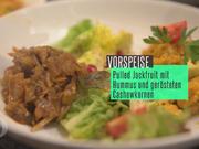 Pulled Jackfruit Curry an Salat mit Kürbishummus - Rezept - Bild Nr. 2