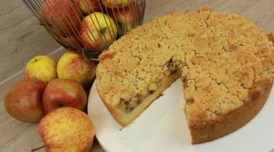 Rezept: Apfelkuchen mit Zimtstreusel