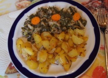 Brauner Kohl mit Eisbein und leckeren Bratkartoffeln - Rezept - Bild Nr. 2
