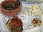 Aubergine und Reis dazu verschiedene türkische Beilagen - Rezept - Bild Nr. 2