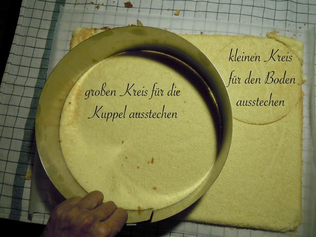Trüffel Kuppel Torte mit Ferrero Rocher und gebrannten Mandeln - Rezept - Bild Nr. 4819