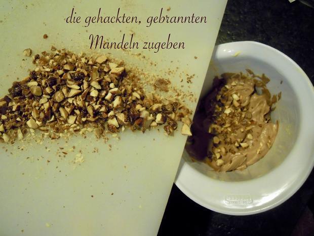 Trüffel Kuppel Torte mit Ferrero Rocher und gebrannten Mandeln - Rezept - Bild Nr. 4833