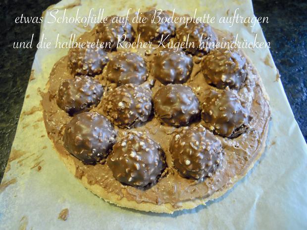 Trüffel Kuppel Torte mit Ferrero Rocher und gebrannten Mandeln - Rezept - Bild Nr. 4835