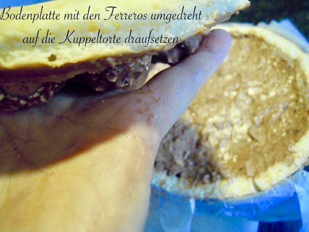 Trüffel Kuppel Torte mit Ferrero Rocher und gebrannten Mandeln - Rezept - Bild Nr. 4842