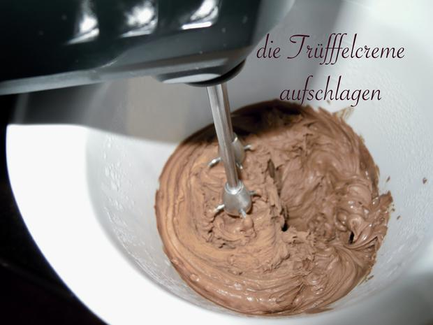 Trüffel Kuppel Torte mit Ferrero Rocher und gebrannten Mandeln - Rezept - Bild Nr. 4813