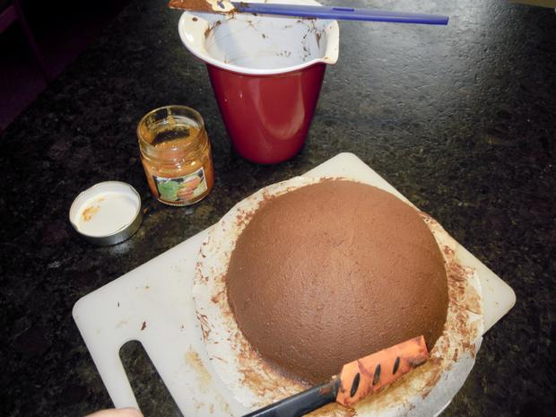 Trüffel Kuppel Torte mit Ferrero Rocher und gebrannten Mandeln - Rezept - Bild Nr. 4815