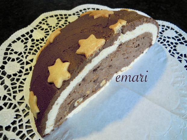 Trüffel Kuppel Torte mit Ferrero Rocher und gebrannten Mandeln - Rezept - Bild Nr. 4845