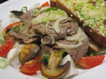 Fleisch: Marinierter Tafelspitz auf Salat - Rezept - Bild Nr. 4820