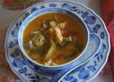 Tom Kha Gai Kokossuppe - Rezept - Bild Nr. 4827