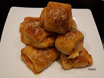 Fingerfood... Käse - Schinken - Hefeteilchen ~ Enroladinhos - Rezept - Bild Nr. 4829