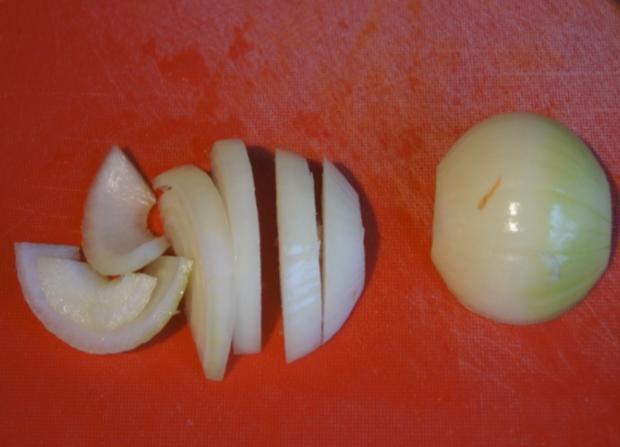 Rindfleisch mit Zwiebeln und Würzreis - Rezept - Bild Nr. 4899