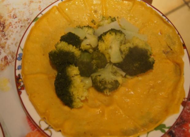 Gefüllter Pfannkuchen mit Brokkoli - Rezept - Bild Nr. 4906