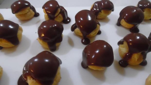 Profiteroles mit Crème patissière - Rezept - Bild Nr. 4932