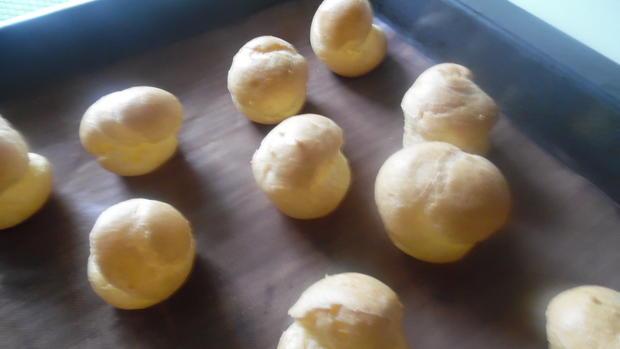 Profiteroles mit Crème patissière - Rezept - Bild Nr. 4944
