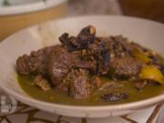 """Marokkanisches Lammcurry """"Bahia"""" mit Spinatcouscous und Auberginenragout - Rezept - Bild Nr. 2"""