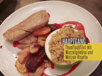 Thunfisch mit Gemüse und Weizenrisotto - Rezept - Bild Nr. 2