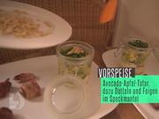 Avocado-Apfel-Tatar mit Mozzarella, dazu Feigen und Datteln im Speckmantel - Rezept - Bild Nr. 2