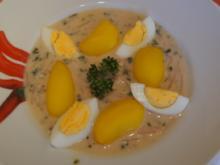 Gekochtes Ei mit Radieschen-Kräuter-Senf-Sauce und Drillingen - Rezept - Bild Nr. 4933
