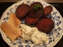 Rote Bete mit Forellen-Filet und Quark-Meerrettich-Dip - Rezept - Bild Nr. 4939