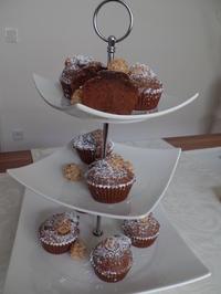 Rezept: Schoko-Muffins mit Giotto-Kern
