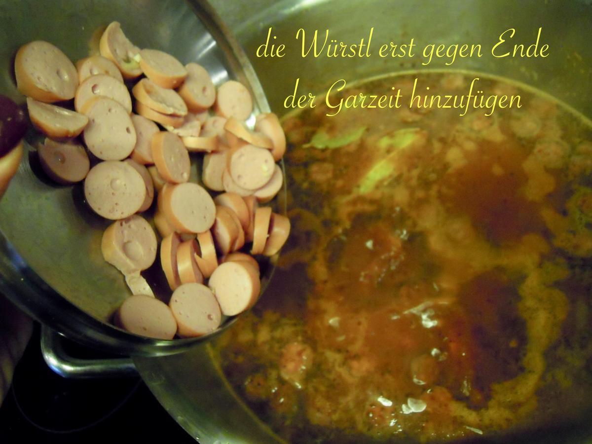 Personen koegeartlastops: gulaschsuppe für 30 Gulaschsuppe