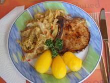 Kotelett mit Wirsing und Drillingen - Rezept - Bild Nr. 4939
