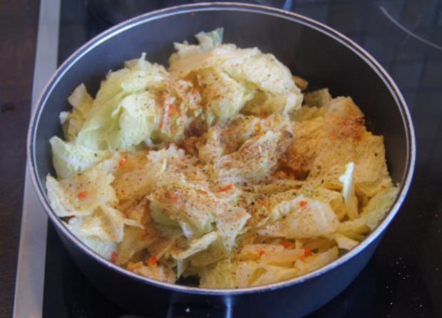 Kotelett mit Wirsing und Drillingen - Rezept - Bild Nr. 4952
