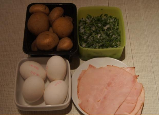 Omelett mit Champignons und Schinken - Rezept - Bild Nr. 4941