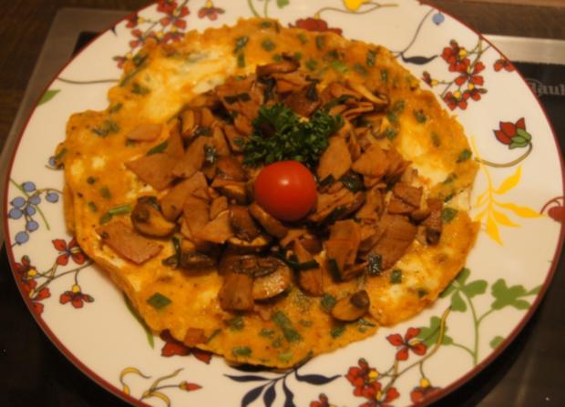 Omelett mit Champignons und Schinken - Rezept - Bild Nr. 4950