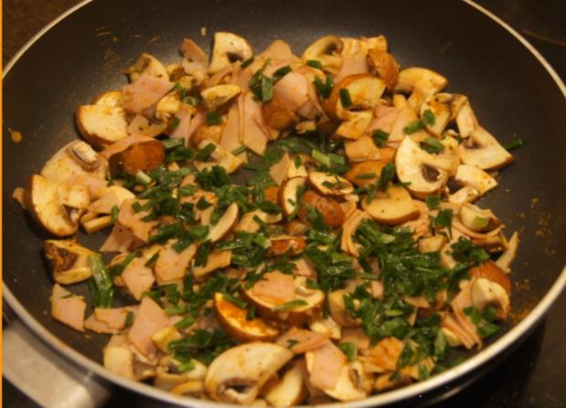 Omelett mit Champignons und Schinken - Rezept - Bild Nr. 4948