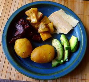 Rezept: Gelbe Rübchen,Rote Beete,Kartoffeln