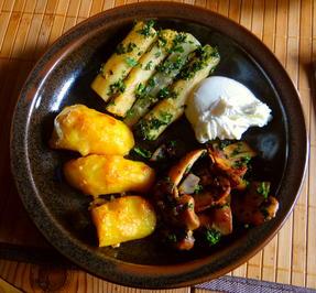 Schwarzwurzel,Ofenkartoffeln,pochiertes Ei - Rezept - Bild Nr. 4943