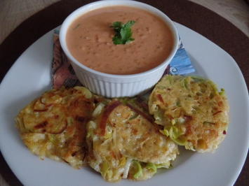 Rezept: Linsen-Kokos-Suppe mit Kartoffel-Lauchrösti