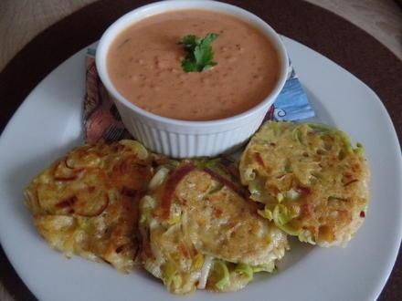 Linsen-Kokos-Suppe mit Kartoffel-Lauchrösti - Rezept - Bild Nr. 4952