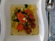 Leckere Gemüsesuppe mit knusprig gebratener Mettwurst - Rezept - Bild Nr. 4952