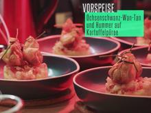 Wan-Tan vom geschmorten Ochsenschwanz auf Kartoffel-Hummer-Schicht - Rezept - Bild Nr. 2