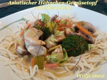 Asiatischer Hähnchen-Gemüse-Eintopf in Kokosmilch - Rezept - Bild Nr. 4953