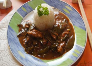 Putenfleisch mit Zuckerschoten und Basmati Reis - Rezept - Bild Nr. 4954