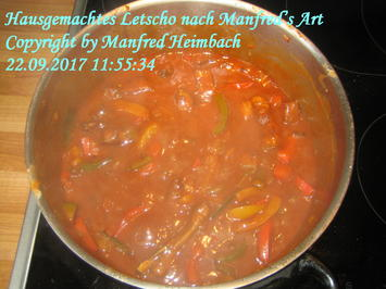 Rezept: Gemüse – Hausgemachtes Letscho nach Manfred's Art