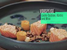 Sashimi vom Lachs mit Roggencrunch, Kürbiscarpaccio und Misomayonnaise - Rezept - Bild Nr. 2