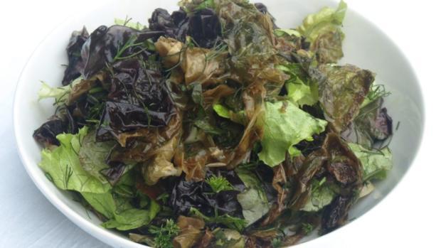 Blattsalate mit feinen Salatalgen - Rezept - Bild Nr. 4981