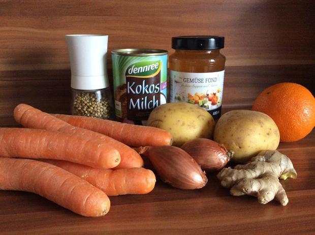 Möhrensuppe mit Ingwer und Kokosmilch - Rezept - Bild Nr. 5003