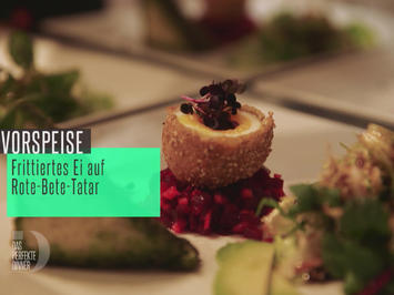 Rezept: Frittiertes Ei auf Rote-Bete-Tatar