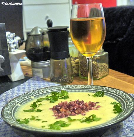 Kartoffelcremesüppchen mit krossen Speckwürfelchen - Rezept - Bild Nr. 3