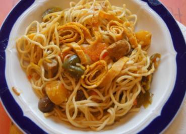 Putenbrust mit Gemüse süß sauer und Mie-Nudeln - Rezept - Bild Nr. 5004