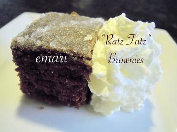 """Ratz Fatz""  Schoko Mandel Brownies - Rezept - Bild Nr. 5094"