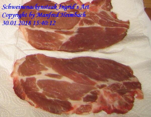 Fleisch – Schweinenackensteaks Ingrid's Art - Rezept - Bild Nr. 5021